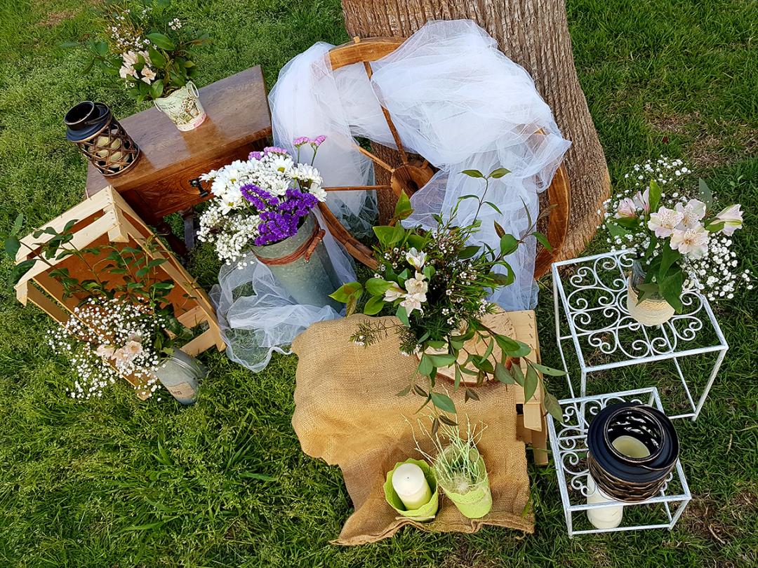 Decoración para bodas en Exterior